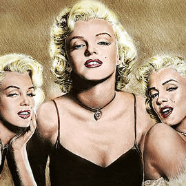Hollywood Legends Marilyn colour by Andrew Read