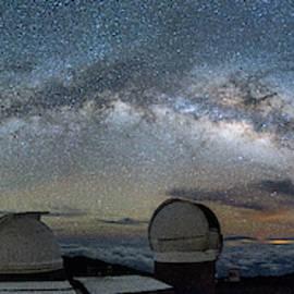 Home Galaxy Over Haleakala by Jason Chu