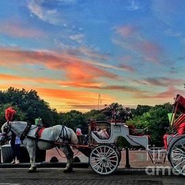 Horse-Drawn Carriage at Dusk - Central Park New York by Miriam Danar