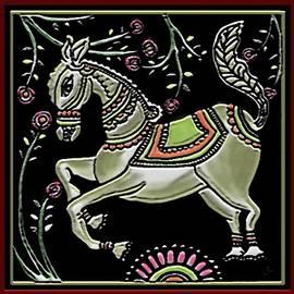Horse-Kalamkari style by Latha Gokuldas Panicker