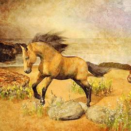 Horse On Beach by Judi Suni Hall