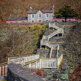 Hospital Steps At Llanberis Quarry  by Adrian Evans