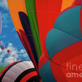 Hot Air Balloons Up Up Away by David Zanzinger