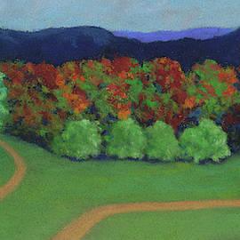 Hutchins Farm In Fall by Anne Katzeff