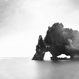 Hvitserkur In The Mist by Susan Maxwell Schmidt
