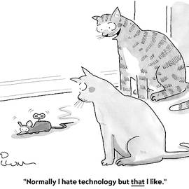 I Hate Technology by Leo Cullum