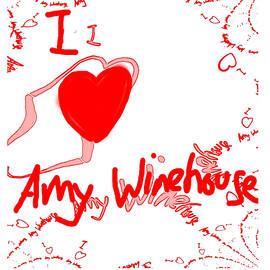 I Love Amy Winehouse design by 3nki by Enki Art