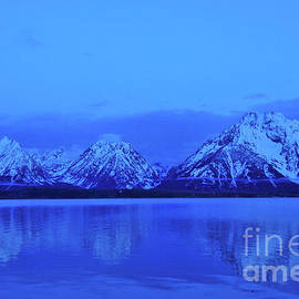 Ice Blue Tetons by Dennis Morris