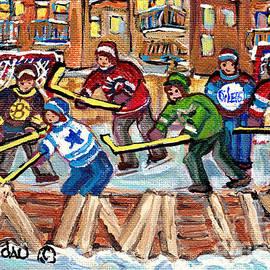Carole Spandau - Ice Rinks Winter Scenes Hockey Teams Bruins Sens Flames Leafs Habs Oilers C Spandau Hockey Artist