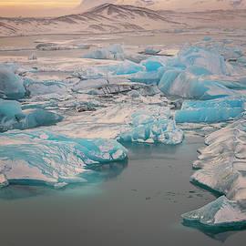 Iceland Glacier Lagoon by Joan Carroll