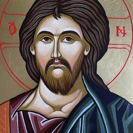 Icon of Christ by Anda Gheorghiu