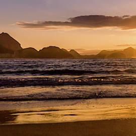 Idyllic Sunrise In Copacabana Beach In Rio De Janeiro, Brazil by Alexandre Rotenberg