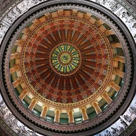 Directly under the  Illinois State Capitol Dome