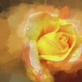 Impasto Rose by Terry Davis