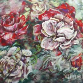 Impressionist Rose Garden In July by Ryn Shell