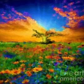 In A Field Flowers by Belinda Threeths
