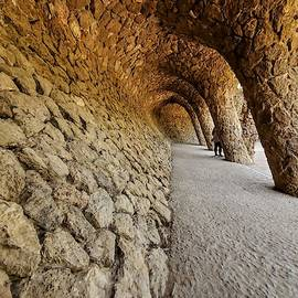 In Park Guell by Nora Martinez