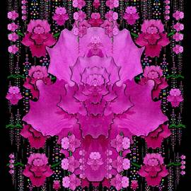 In The Dark Is Rain And Fantasy Flowers Decorative by Pepita Selles