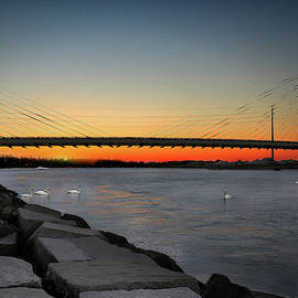 Indian River Bridge Over Swan Lake by Bill Swartwout Photography