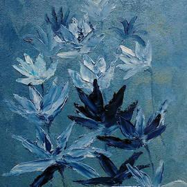 Indigo Flowers by Angeles M Pomata