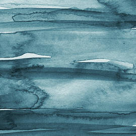 Indigo Water- Abstract Painting by Linda Woods