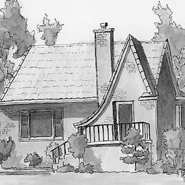 Inktober 2018 No 4 Vintage House by David King