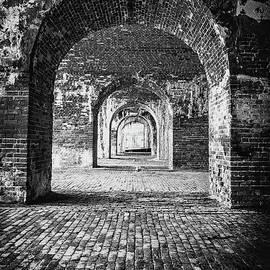 Inside Fort Morgan - BW by Scott Pellegrin
