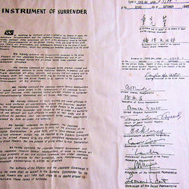 Instrument Of Surrender, Japan by Angelcia Wright