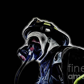 Interior Firefighter Enhanced   by Jim Lepard