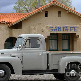 International Harvester L-110 Truck at Santa Fe Train Depot by Catherine Sherman