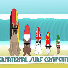International Surf Competition by Barefoot Bodeez Art