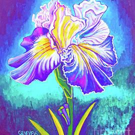 Iris In Violet by Genevieve Esson