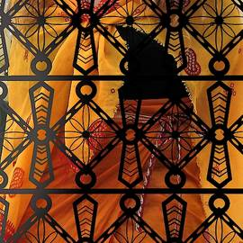 Iron Lattice Pattern Fiji Temple by Joan Stratton