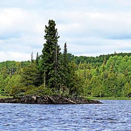 Island In Bonar Lake by Debbie Oppermann