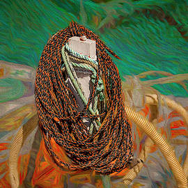 Isolated Rope by Bill Posner