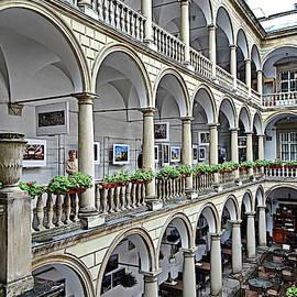 Italian Courtyard, Lviv, Ukraine by Lyuba Filatova