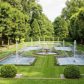 Italian Fountain Garden by Sally Weigand