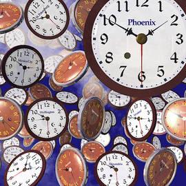 It's Raining Clocks - Phoenix by Nicola Nobile