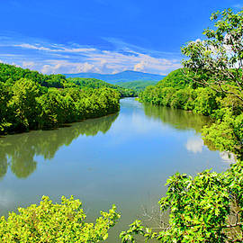 James River, From The James River Bridge, Va by The American Shutterbug Society