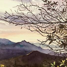 January Sunset - Santa Monica Mountains by Luisa Millicent