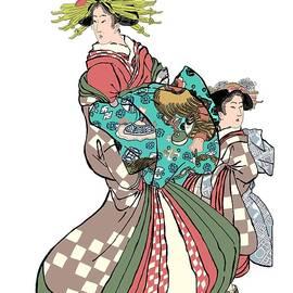 Japanse Women In Dress by Marshal James