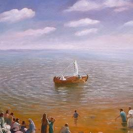 Jesus Teaching on the Sea Of Galilee by Fine Art By Carolyn Ann Steward
