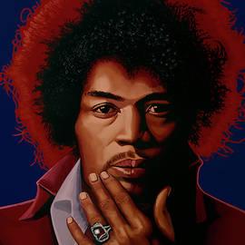 Jimi Hendrix Painting 5 by Paul Meijering