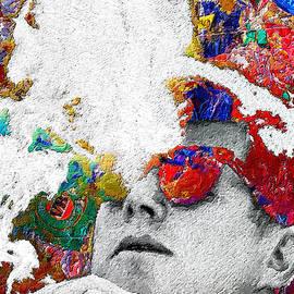 John F Kennedy Cigar And Sunglasses 2 Large Colorful by Tony Rubino