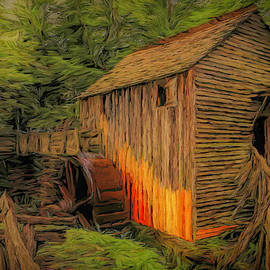 John P. Cable Grist Mill Painted by Judy Vincent
