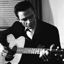 Johnny Cash At The New York Folk by Michael Ochs Archives