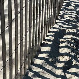 Jones Beach Fence and Lines 2 by Virginia Giblin