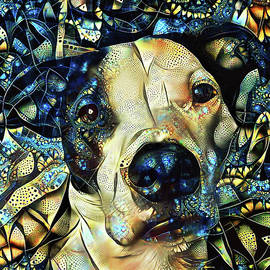Joshua the Staffordshire Terrier Great Dane Cross by Peggy Collins
