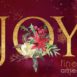 Joy Holiday Art  by Anita Pollak