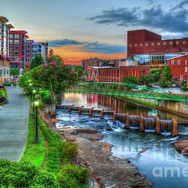 Just Before Sunset 7 Reedy River Falls Park Greenville South Carolina Art by Reid Callaway
